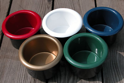 Colored Aluminum Cup Holders