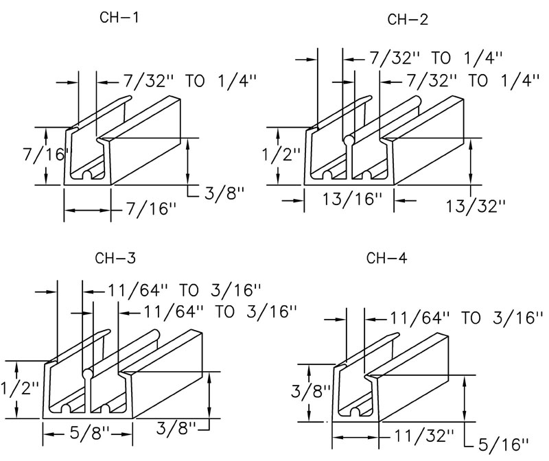Window Channel dimensions